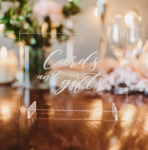 Cards & Gifts Wedding Table Sign - Mondainé Bridal Studio