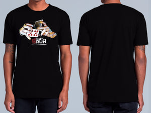 'Cut and Run' Black T Shirt