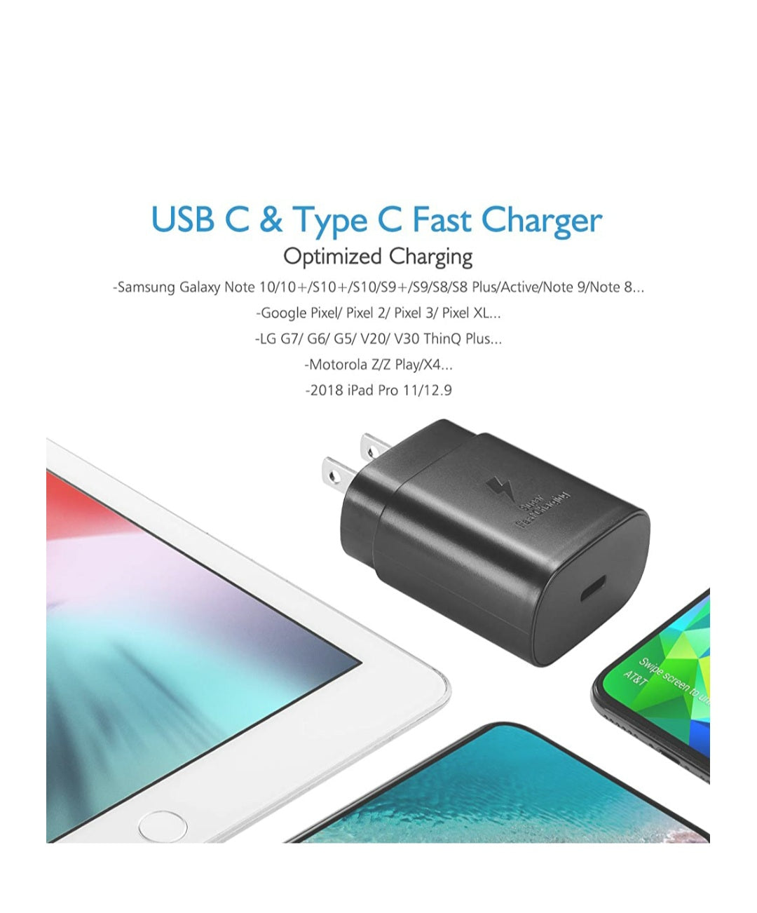 USB C Charger-25W Wall Charger Fast Charging