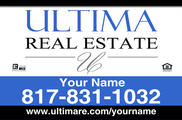 24x36 Ultima Real Estate - Aluminum Sign Panel Only