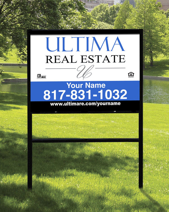 18x24 Ultima Real Estate Sign with Slide-in Frame