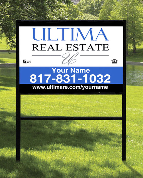 24x36 Ultima Real Estate Sign with Slide-in Frame