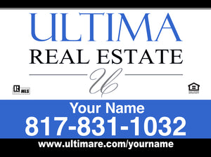 18x24 Ultima Real Estate - Aluminum Sign Panel Only