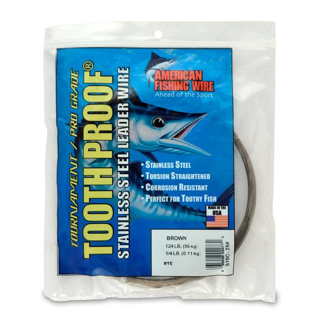 AFW Stainless Steel Leader Wire (124lb. Brown 1/4lb.) JB Tackle
