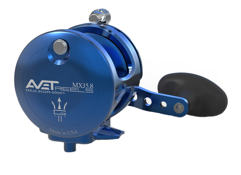 Avet MXL5.8:1 G2 Lever Drag Casting Reel (Blue) JB Tackle