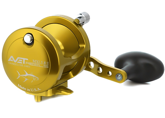 Avet MXL 5.8 : 1 Lever Drag Casting Reel (Gold) JB Tackle