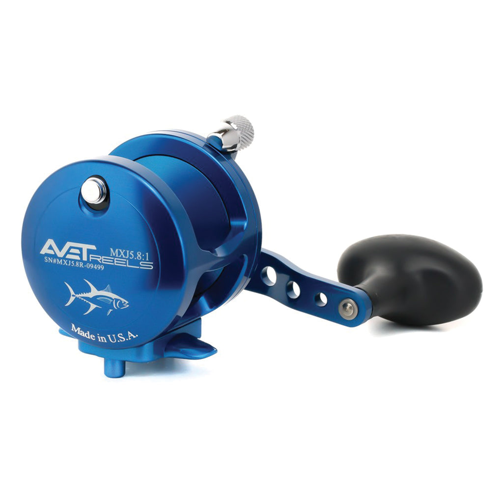Avet MXJ5.8:1 Lever Drag Casting Reel (Blue) JB Tackle
