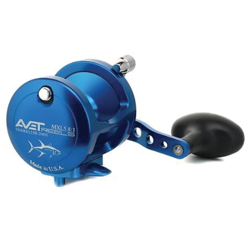 Avet MXL 5.8 : 1 Lever Drag Casting Reel (Blue) JB Tackle