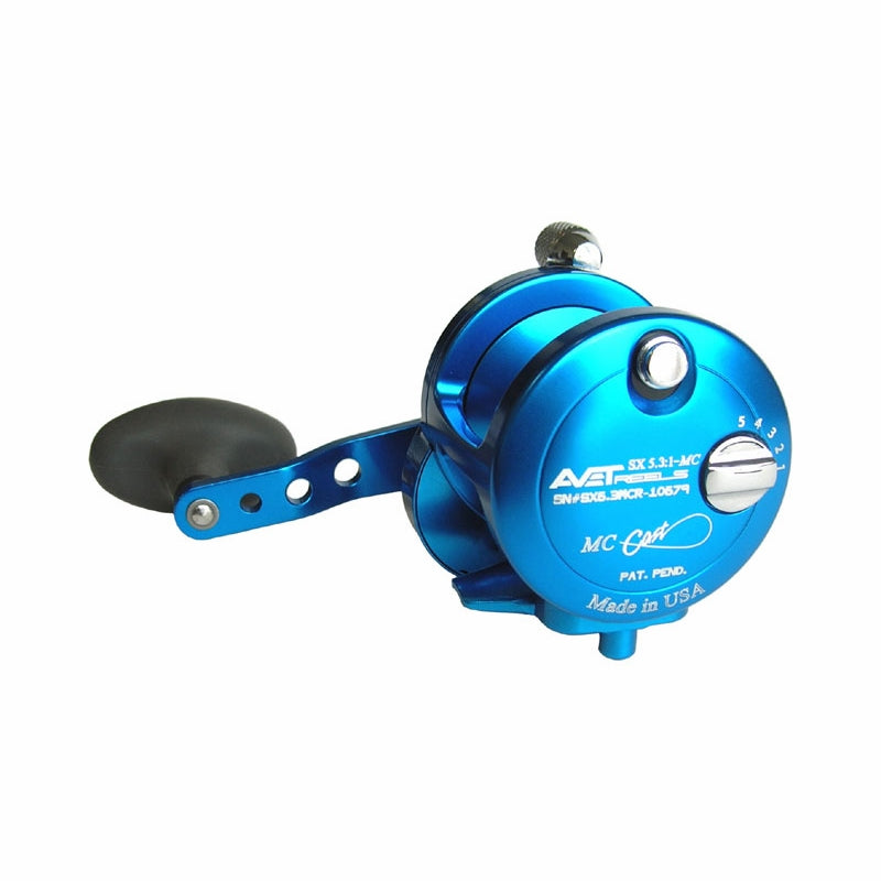Avet SX 5.3 : 1 Lever Drag Casting Reel (Blue) JB Tackle