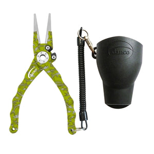 Danco Admiral Aluminum Fishing Pliers (Lime Fish Bones) JB Tackle