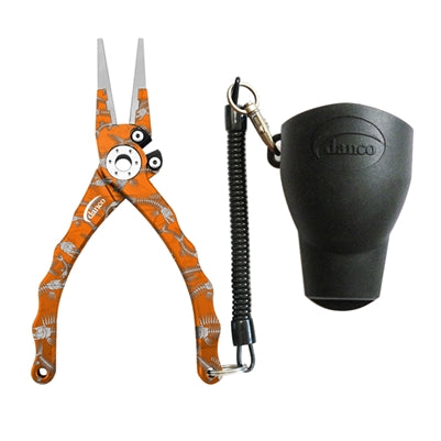 Danco Admiral Aluminum Fishing Pliers (Orange Fish Bones) JB Tackle