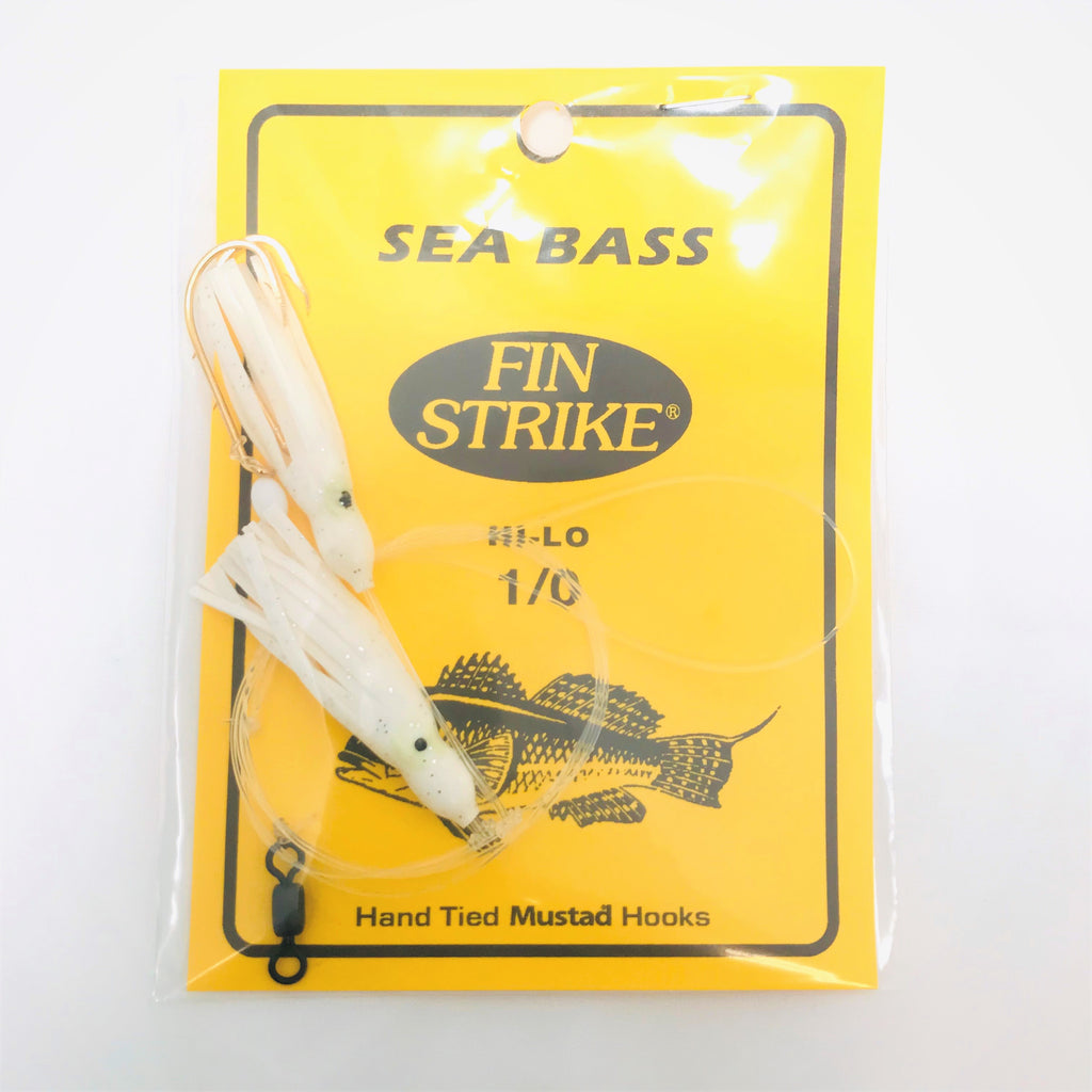 Fin Strike Black Sea Bass Hi-Lo Rigs with Squid Skirts 469-1/0