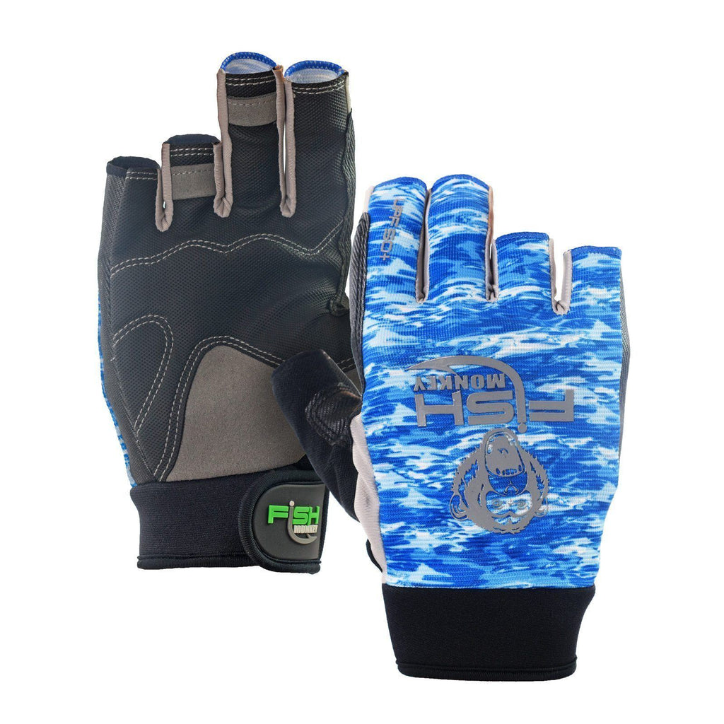 Fish Monkey The Crusher Half Finger Jigging Glove JB Tackle
