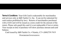 J&B Tackle Custom Gift Cards