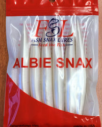 Albie Snax 6-Pack Lures (White) JB Tackle