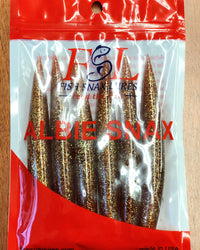 Albie Snax 6-Pack Lures (Amber Fleck) JB Tackle