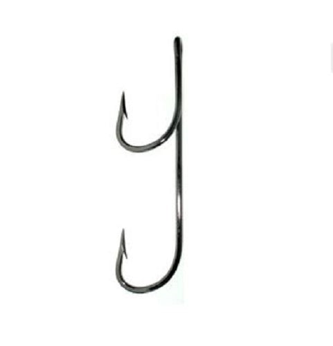 "QuickRig Hooks Double Trouble Straight ""0"" degree - Black and Bleeding Red"