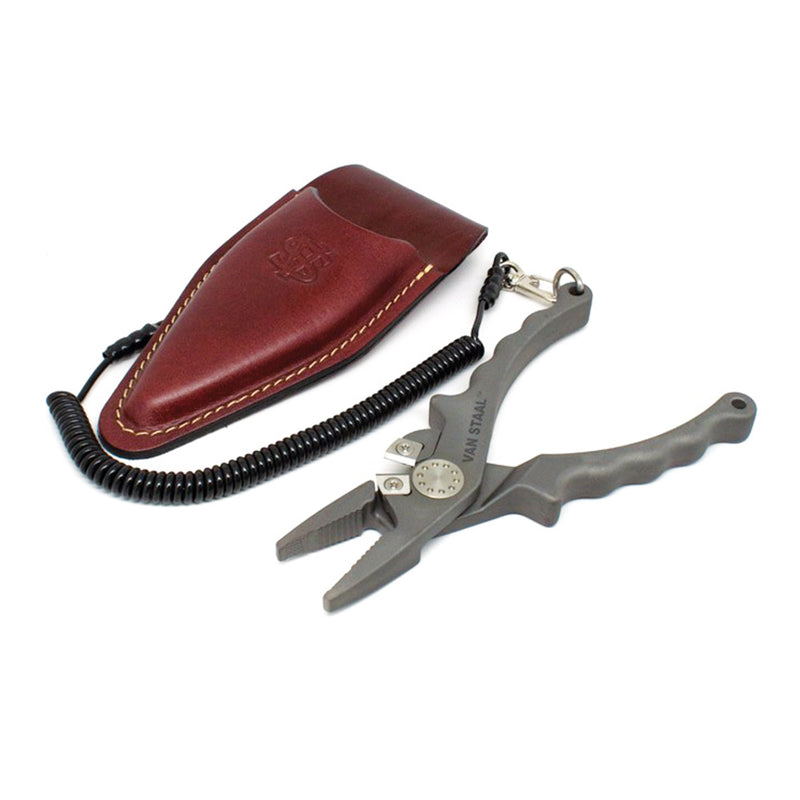 Van Staal VS Titanium Pliers with Leather Sheath and Lanyard