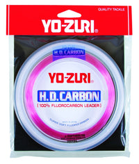 Yo-Zuri HD Carbon 100% Fluorocarbon leader Disappearing PINK 30 yds.