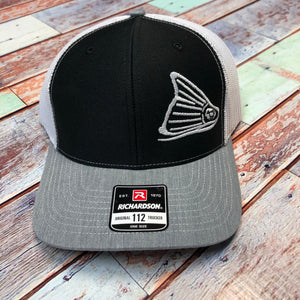 Cap-Black, White & Heather Grey
