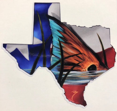 Texas Redfish Tail Decal