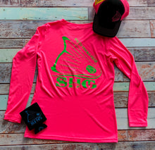 Load image into Gallery viewer, Neon Pink & Neon Green V-Neck LS