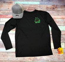 Load image into Gallery viewer, Black & Neon Green Crew LS