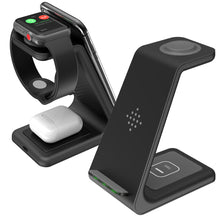 Load image into Gallery viewer, 3 In 1 Wireless Charging Station ( Apple & Samsung )