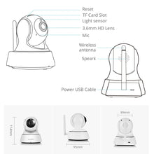 Load image into Gallery viewer, Home Security IP Camera Wi-Fi Wireless Mini Network Camera Surveillance Wifi 3MP Night Vision CCTV Camera Baby Monitor