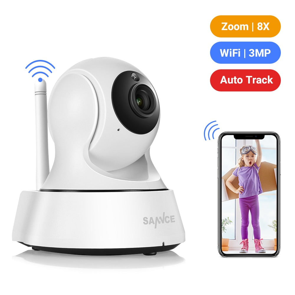 Home Security IP Camera Wi-Fi Wireless Mini Network Camera Surveillance Wifi 3MP Night Vision CCTV Camera Baby Monitor