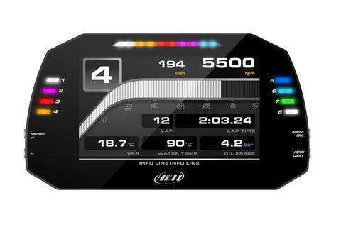 AiM MXS 1.2 - Compact TFT Display Dash Logger