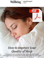 Load image into Gallery viewer, Special Report: How to Improve Your Quality of Sleep