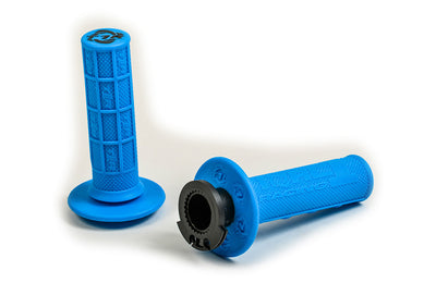Defy Lock On Grips - Electric Blue - MX