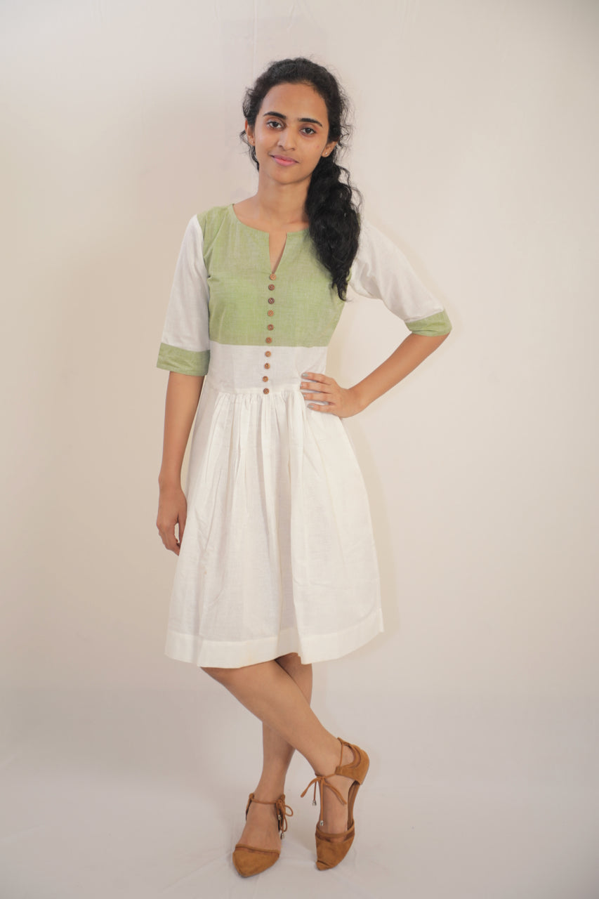 Khadi Cotton  Midi Dress