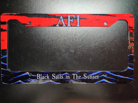 AFI Black Sails License Plate Frame
