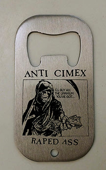 Anti Cimex Raped Ass Bottle Opener