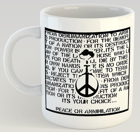 Crucifix Peace or Annihilation 11oz Mug