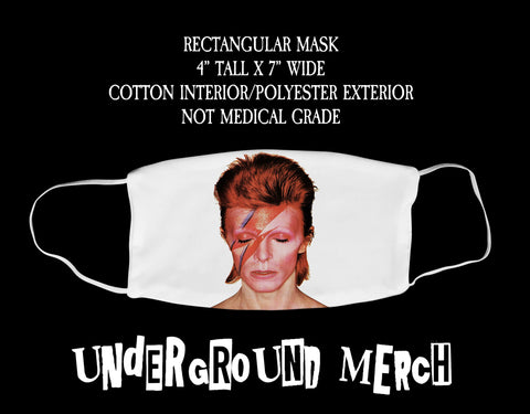 David Bowie Aladdin Zane Face Mask