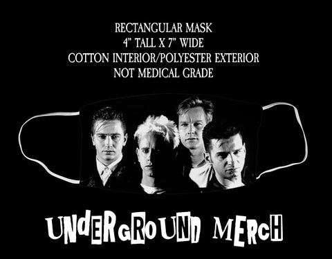 Depeche Mode Group Photo Face Mask