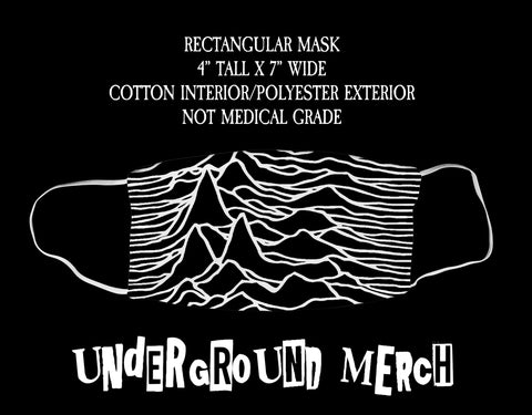 Joy Division Unknown Pleasure Face Mask