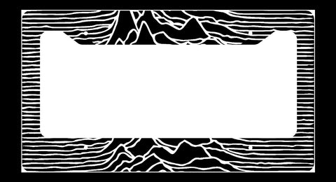 Joy Division Unknown Pleasures License Plate Frame