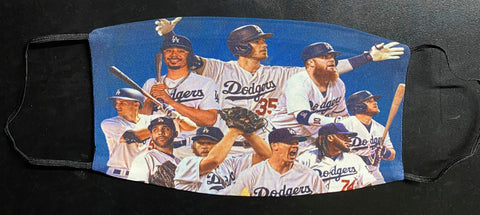 Dodgers 2020 Roster Face Mask