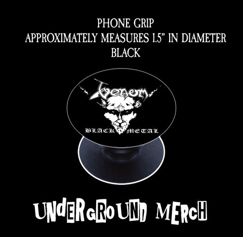 Venom Black Metal Phone Grip