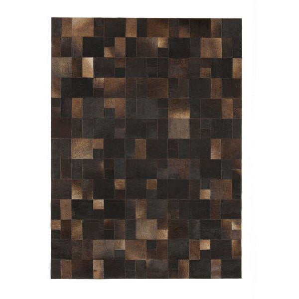 Brilliant Brown Leather Rug - Calligaris Westchester