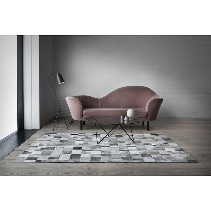 Brilliant Grey Leather Rug - Calligaris Westchester