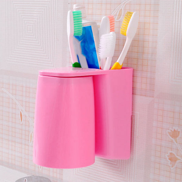 Magnetic Gargle Cup and Toothbrush Holder-itoopia