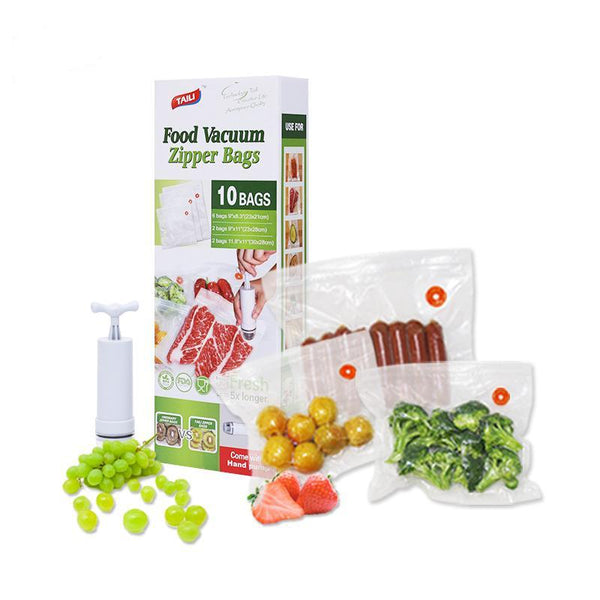 Reusable Vacuum Sealer Bags With Pump-itoopia