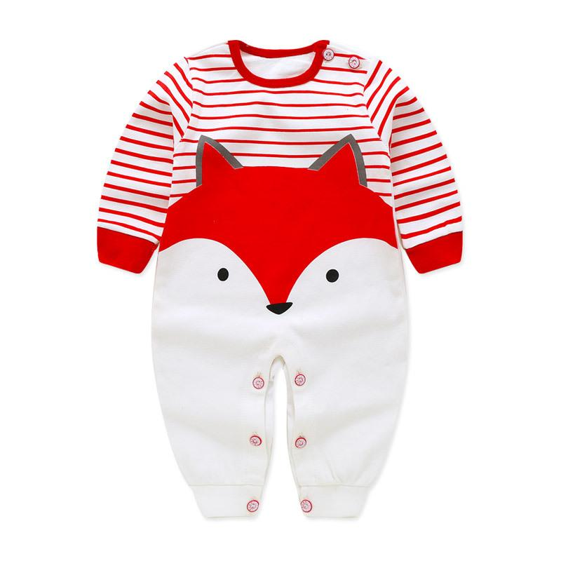 Baby Cotton Printed Long Sleeved Romper