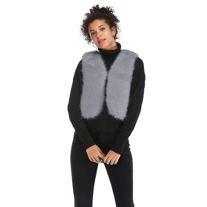 Women's faux fur plush short vest