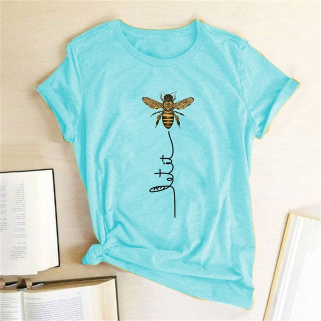 Bee Kind Women T-shirt Aesthetics Graphic Short Sleeve